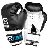 STAMINA Boxing Gloves 14 oz [ST-303-14BK] - Black - Other Exercise